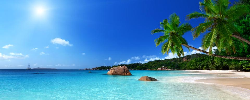 Anse Lazio plage de l'île de Praslin, Seychelles
