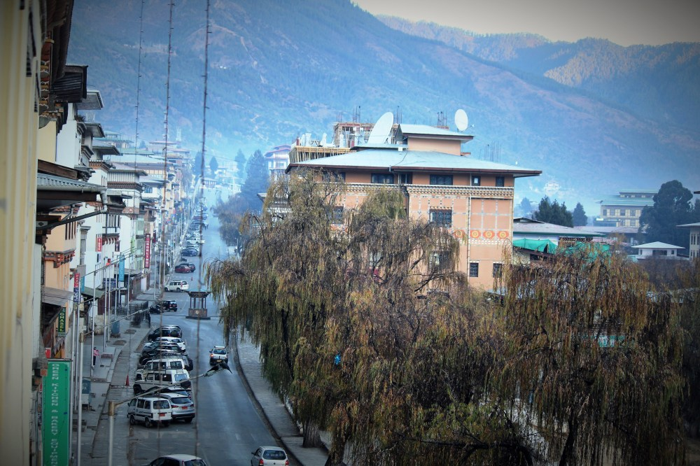 Thimphu market road